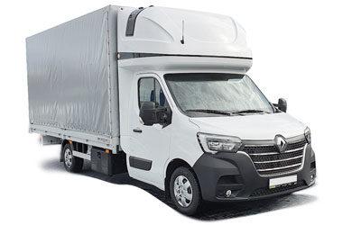 Renault Master – valník, plachta